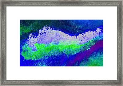 Pura Midnight Blue Framed Print by L J Smith