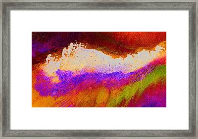 Pura Red Green Framed Print by L J Smith