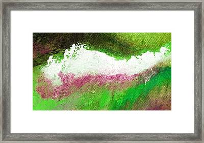 Pura Scarlet Green Framed Print by L J Smith