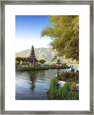 Pura Ulun Danu Bratan, Bali Framed Print by Afriandi