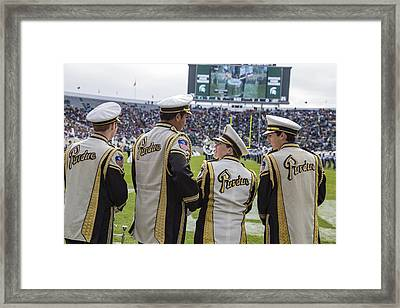 Purdue Band Members At Msu Framed Print by John McGraw