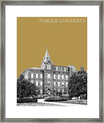Purdue University - University Hall - Brass Framed Print by DB Artist