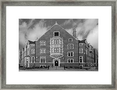 Purdue University Duhme Residence Hall Framed Print by University Icons