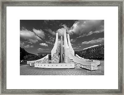 Purdue University Engineering Fountain Framed Print by University Icons