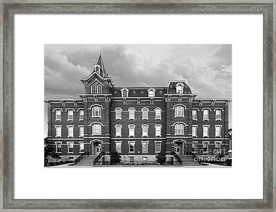 Purdue University Hall Framed Print by University Icons
