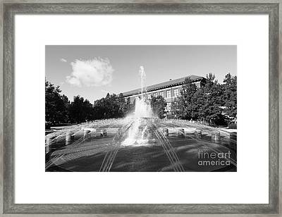 Purdue University Loeb Fountain Framed Print by University Icons