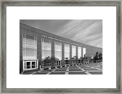Purdue University Pao Hall  Framed Print by University Icons