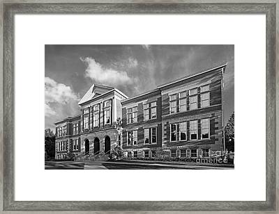Purdue University Pfendler Hall Framed Print by University Icons