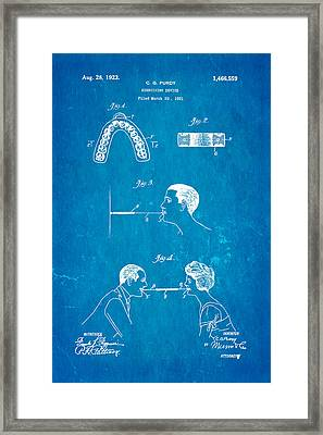 Purdy Excercising Device Patent Art 1923 Blueprint Framed Print by Ian Monk