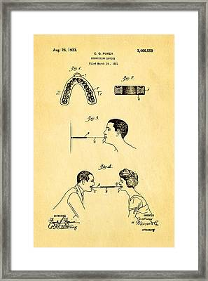 Purdy Excercising Device Patent Art 1923 Framed Print by Ian Monk