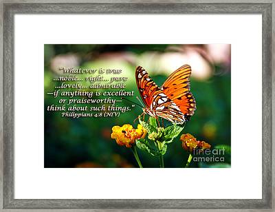 Pure And Lovely Framed Print