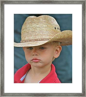 Framed Print featuring the photograph Pure Attitude by Barbara Dudley