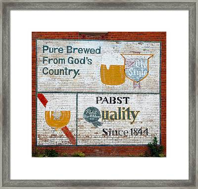 Pure Brewed Framed Print by Jame Hayes