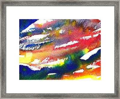 Pure Color Inspiration Abstract Painting Blizzard Born Framed Print by Irina Sztukowski