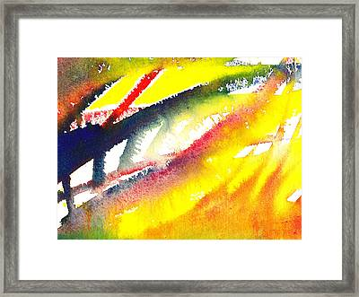 Pure Color Inspiration Abstract Painting Conquering Flames Framed Print