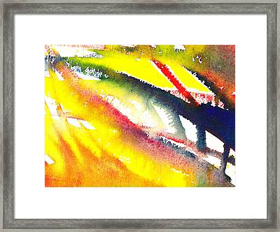 Pure Color Inspiration Abstract Painting Escaping Blaze Framed Print