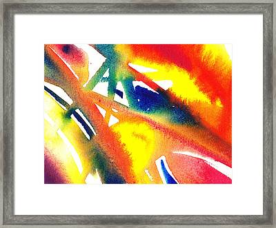 Pure Color Inspiration Abstract Painting Flamboyant Glide  Framed Print by Irina Sztukowski