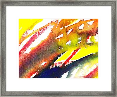 Pure Color Inspiration Abstract Painting Linea Forces Framed Print by Irina Sztukowski
