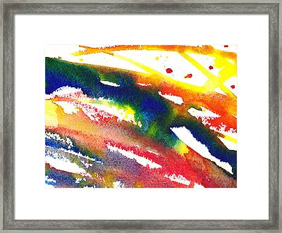 Pure Color Inspiration Abstract Painting Streaming Hue Framed Print