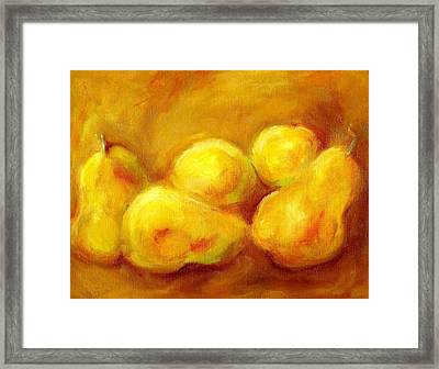 Pure Gold Framed Print by Kat Griffin