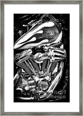 Pure Harley Chrome Framed Print by Tim Gainey