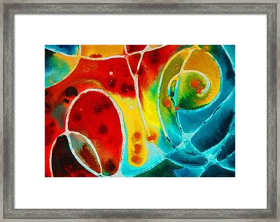 Pure Joy 1 - Abstract Art By Sharon Cummings Framed Print by Sharon Cummings