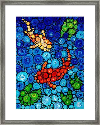 Pure Koi Joi Framed Print by Sharon Cummings