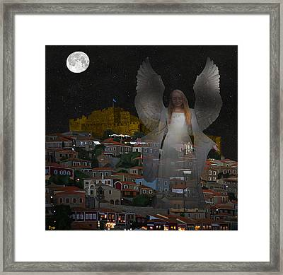 Pure Lesvos Framed Print by Eric Kempson