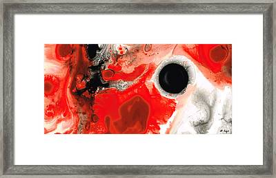 Pure Passion - Red And Black Art Painting Framed Print