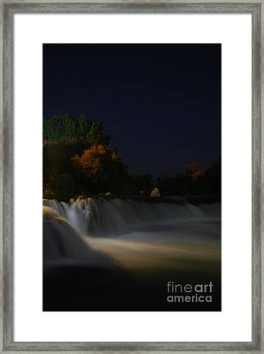 Pure Spirits Of The Waterfall Framed Print