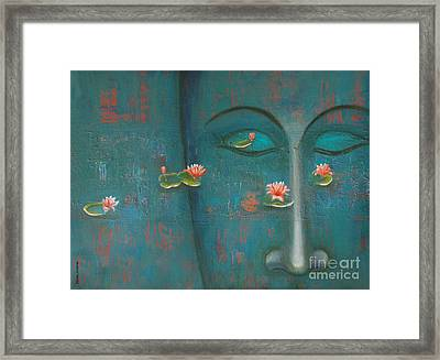 Framed Print featuring the painting Pure Thoughts by Mini Arora