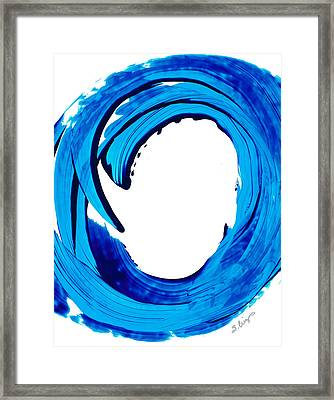 Pure Water 312 - Blue Abstract Art By Sharon Cummings Framed Print
