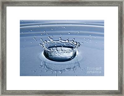 Pure Water Splash Framed Print by Anthony Sacco