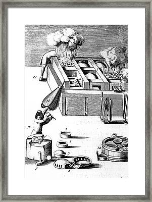 Purification Of Silver In A Furnace Framed Print by Universal History Archive/uig