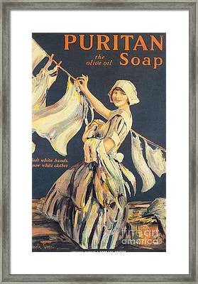 Puritan 1910s Uk Washing Powder Framed Print by The Advertising Archives
