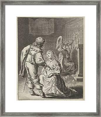 Purity And Vanity, Pieter Nolpe Framed Print by Pieter Nolpe