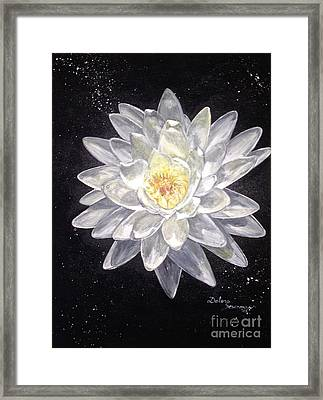 Framed Print featuring the painting Purity by Delona Seserman
