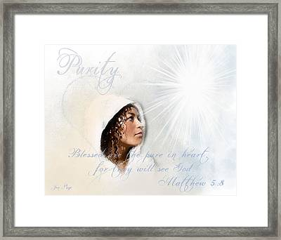 Purity Framed Print