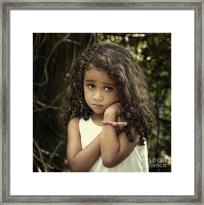 Purity Of Sadness Framed Print by Evelina Kremsdorf