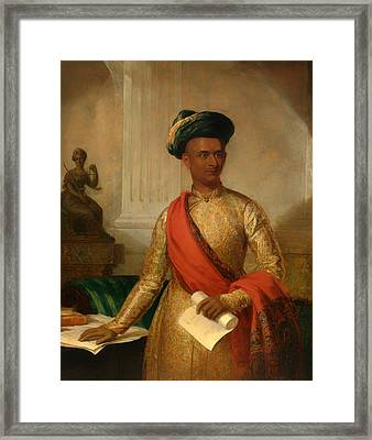 Purniya Chief Minister Of Mysore Framed Print by Mountain Dreams