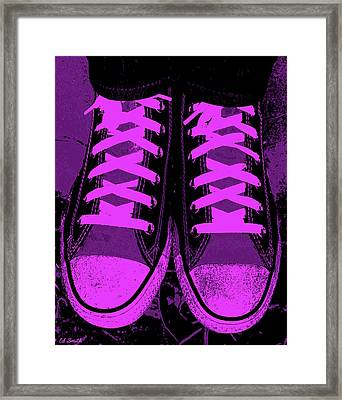 Purpink Framed Print by Ed Smith