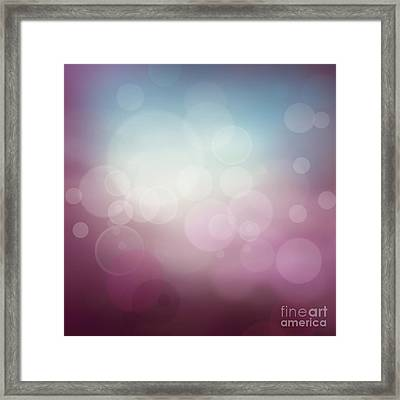 Purple Abstract Bokeh Background  Framed Print by Mythja  Photography