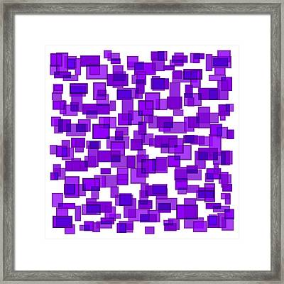 Purple Abstract Framed Print by Frank Tschakert