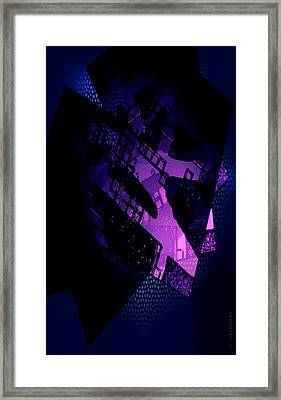 Purple Abstract Geometric Framed Print by Mario Perez