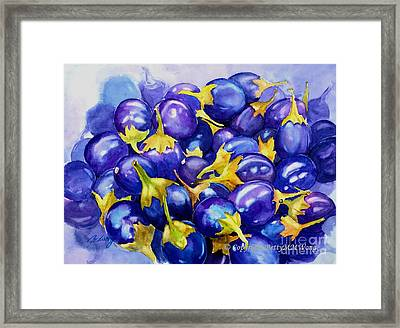 Purple Abundance Framed Print by Betty M M   Wong