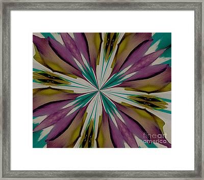 Purple And Aqua Petals Framed Print