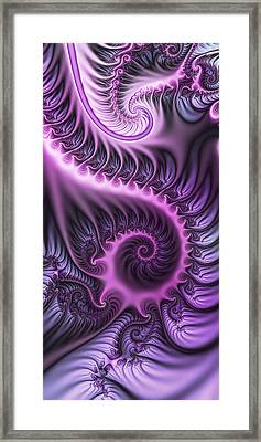 Purple And Friends Framed Print