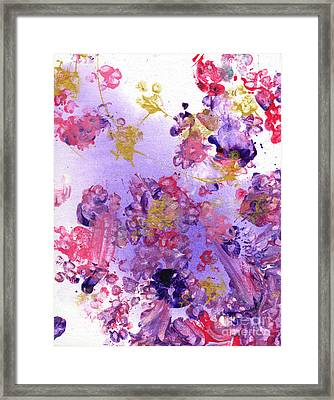 Purple And Gold Paws Framed Print