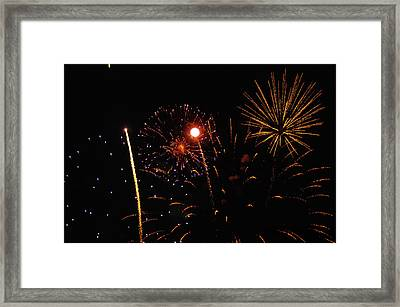 Purple And Gold Stars Framed Print by Marissa Farra