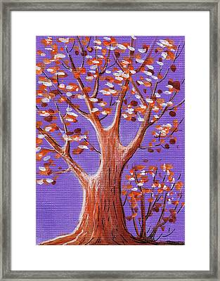 Purple And Orange Framed Print